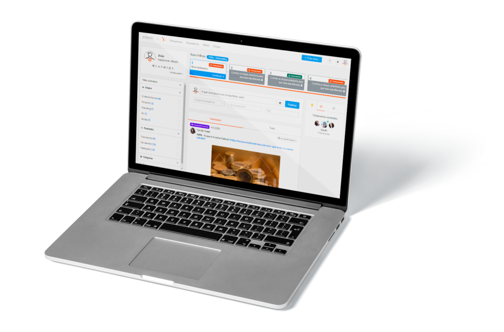 Dashboard Duuca em laptop